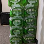 Donated Cases of Bottled Water by Hy-Vee Shawnee