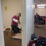Packing Backpacks - Lenexa Optimist Club & Shawnee Lions Club